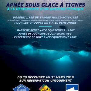 フランスアルプス 凍結湖 フリーダイビング
