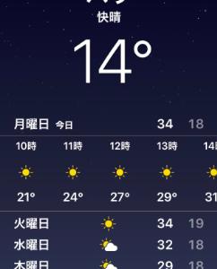 最高気温を旨とすべし