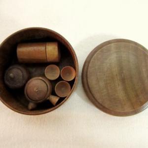 木製ミニチュアお茶セット