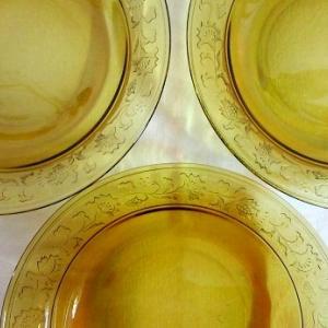 アンバーガラス・スープ皿