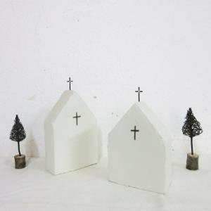 切れ端の白壁教会