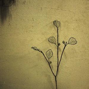 針金の枝(葉と実付き)