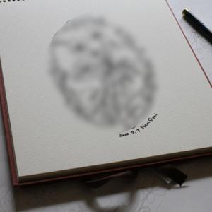 著書向け作品のデザイン画描きをしています