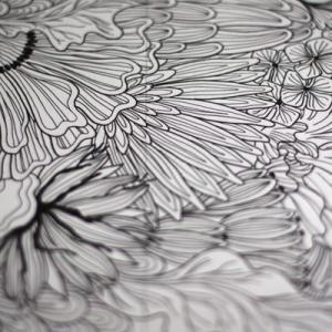 今刺繍している作品のデザイン画
