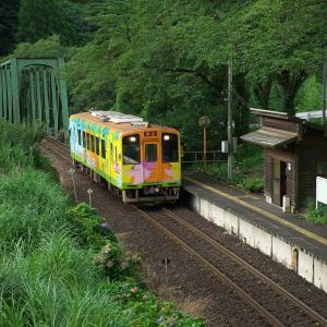 緑に囲まれた駅