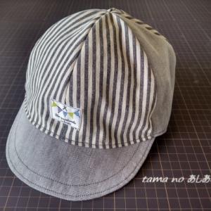 息子の帽子、作ってみました!・・sewing life 1 子供用キャップ・・