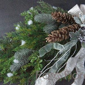[コピー]クリスマスレッスン-1【生モミのスワッグ】