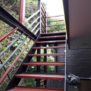 鉄骨階段手すり工事