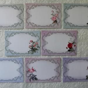 ルドゥーテの薔薇をメッセージカードに。