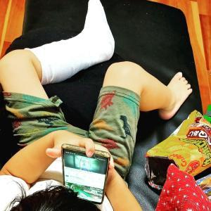 (自閉症坊日記)坊足を骨折する