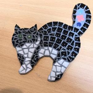 愛猫ちゃんのモザイク完成です。