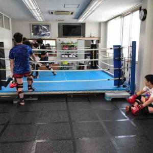 …朝から格闘技三昧❣️