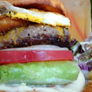 Burger is AMERICAN BEEF. 2019 in グリルMONSTER