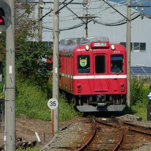 養老鉄道でポタリング4 東赤坂駅~美濃山崎駅(天井川)