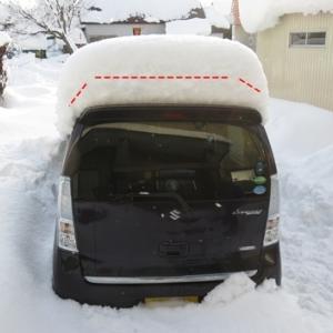 今朝の除雪を怠けるが・・・結局は手抜きで・・・