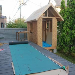 自作の小屋づくり ~屋根材を張る②~