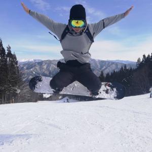 ノルン水上スキー場でスノーボード⛄