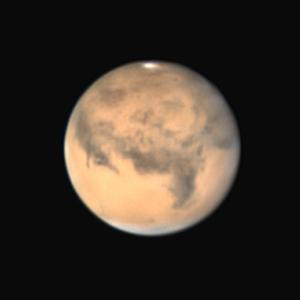 昨夜の火星 大シルチスが写りました