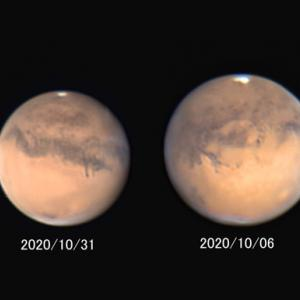 遠ざかる火星