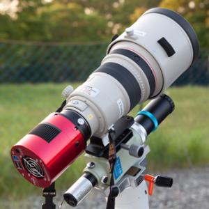 冷却CMOSカメラとカメラレンズ