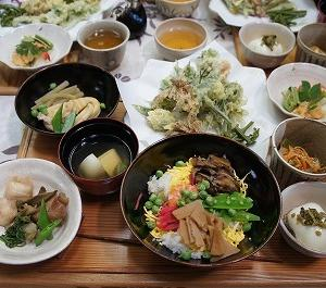 春の山菜を使った料理教室