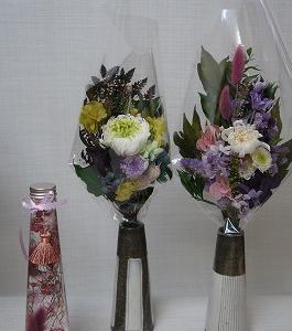プリザーブドフラワーの仏花&ハーバリウム