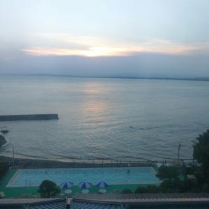 2歳 江ノ島1泊旅行。岩本楼に泊まって海とプールデビュー!