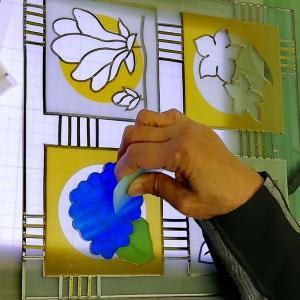笑いの絶えないグラスアート浜田教室でした!