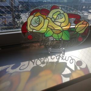 影まで綺麗な作品が完成のグラスアート教室でした!