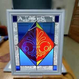 パッションを感じる作品が完成したグラスアート教室でした☆