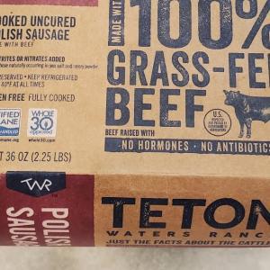 コストコで買った100%Grass-fed Beefのソーセージ