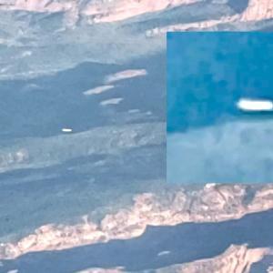 葉巻型UFOを飛行中のパイロットがコックピットから激撮