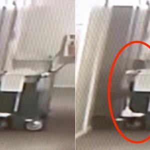防犯カメラに黒い人影。ホテルの総支配人が不気味な映像を公開