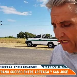 アルゼンチンの消えるヒッチハイカー、カーマットに靴跡を焼きつけどろん