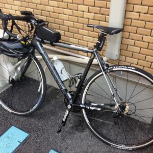 週末自転車通勤♪