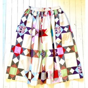 【BOHEMIANS】QUILTING BEE SH GATHER SKIRT