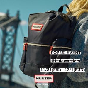明日 11/22(FRI)から 【HUNTER】POP UP EVENT