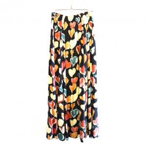 『VINTAGE』90s BUTTON UP HEART MAXI SKIRT