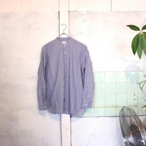 【ARMEN】UTILITY BANDED COLLAR SHIRTS