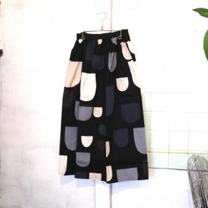 【BOHEMIANS-LADYS-】POCKETS GATHER SKIRT