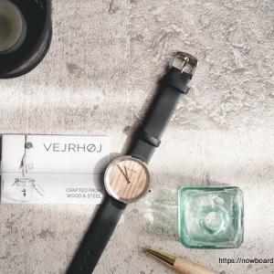 【北欧デザイン×クラシック】浪漫漂う木製腕時計VEJRHØJ(ヴェアホイ)届きました