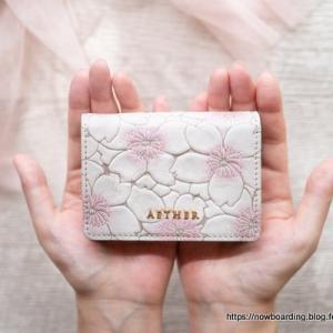 【AETHER(エーテル)】可憐なサクラを閉じ込めた多機能4WAYミニ財布届きました【ミニウォレット】
