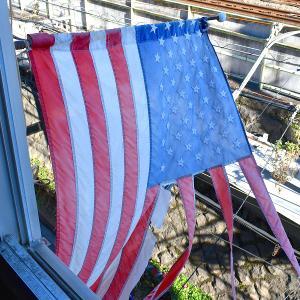 【星条旗クンごめんよ。。。】 24時間365日働き続けるアメリカンフラッグ @古着屋カチカチ