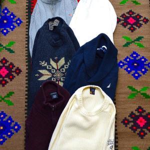 【週末限定SALE】真冬の極寒にピッタリの厚手ニットセーターが入荷~~