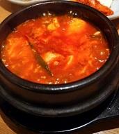 鰯とキムチのスープ