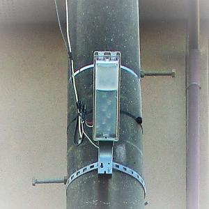 防犯灯をLEDへ切り替え