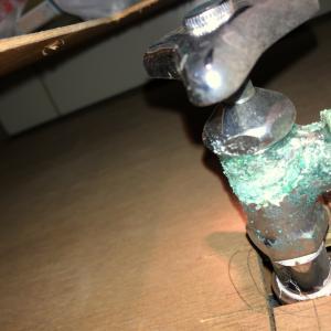 洗面台下が漏水していたため洗面台を交換