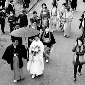 唐桑の「花嫁行列」