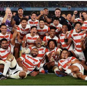 ラグビー日本代表感動しました!