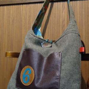 新作かばん「ウールときのこのBig Bag」